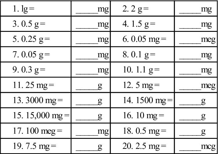 100 Nursing Dosage Calculation Practice Worksheets